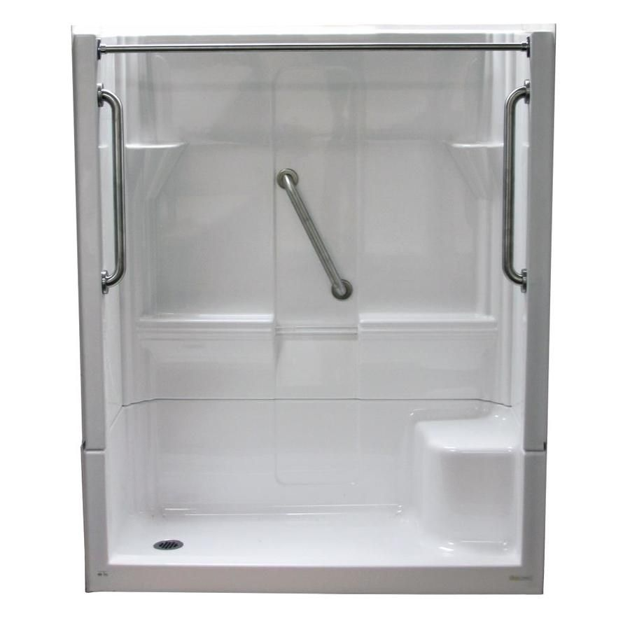 Laurel Mountain Almedia Low Threshold White 4 Piece Alcove Shower