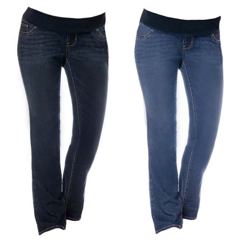 30d3cc09d584b Liz Lange Maternity Low Rise Bootcut Jeans With Stretch Panel | New ...
