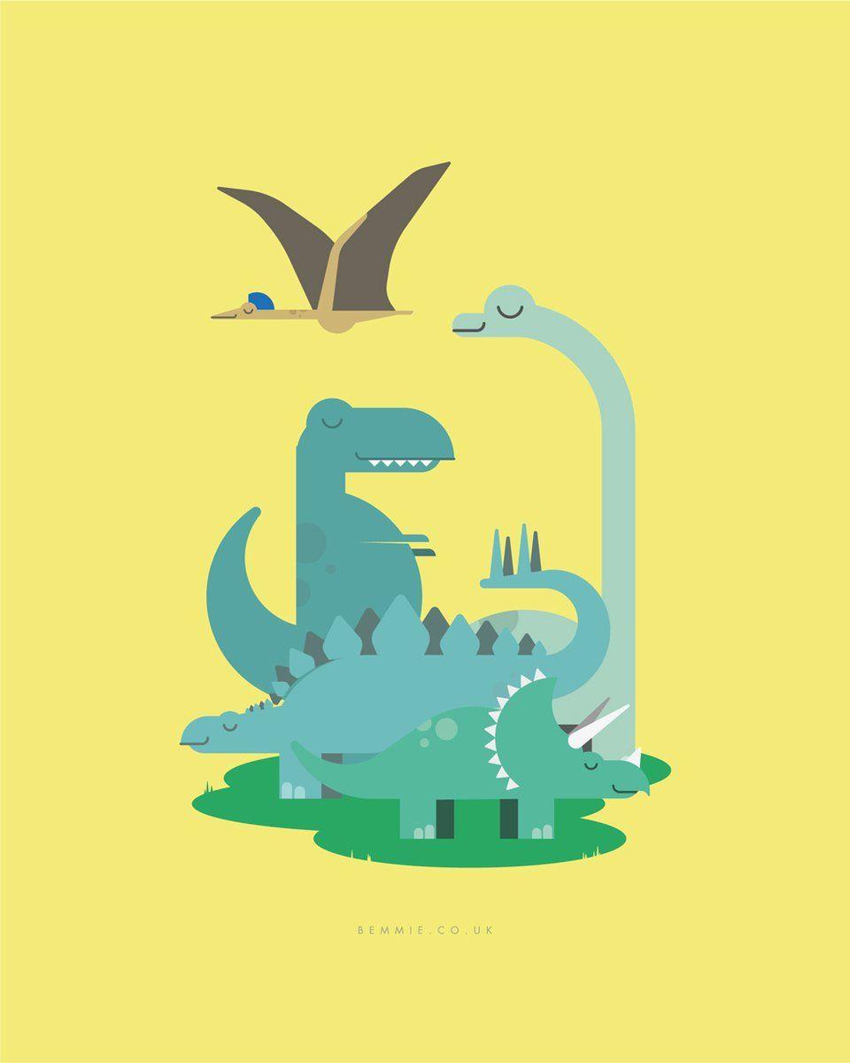 Dinosaur kids Print