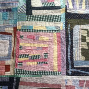 Memory quilt from shirts----Modern design