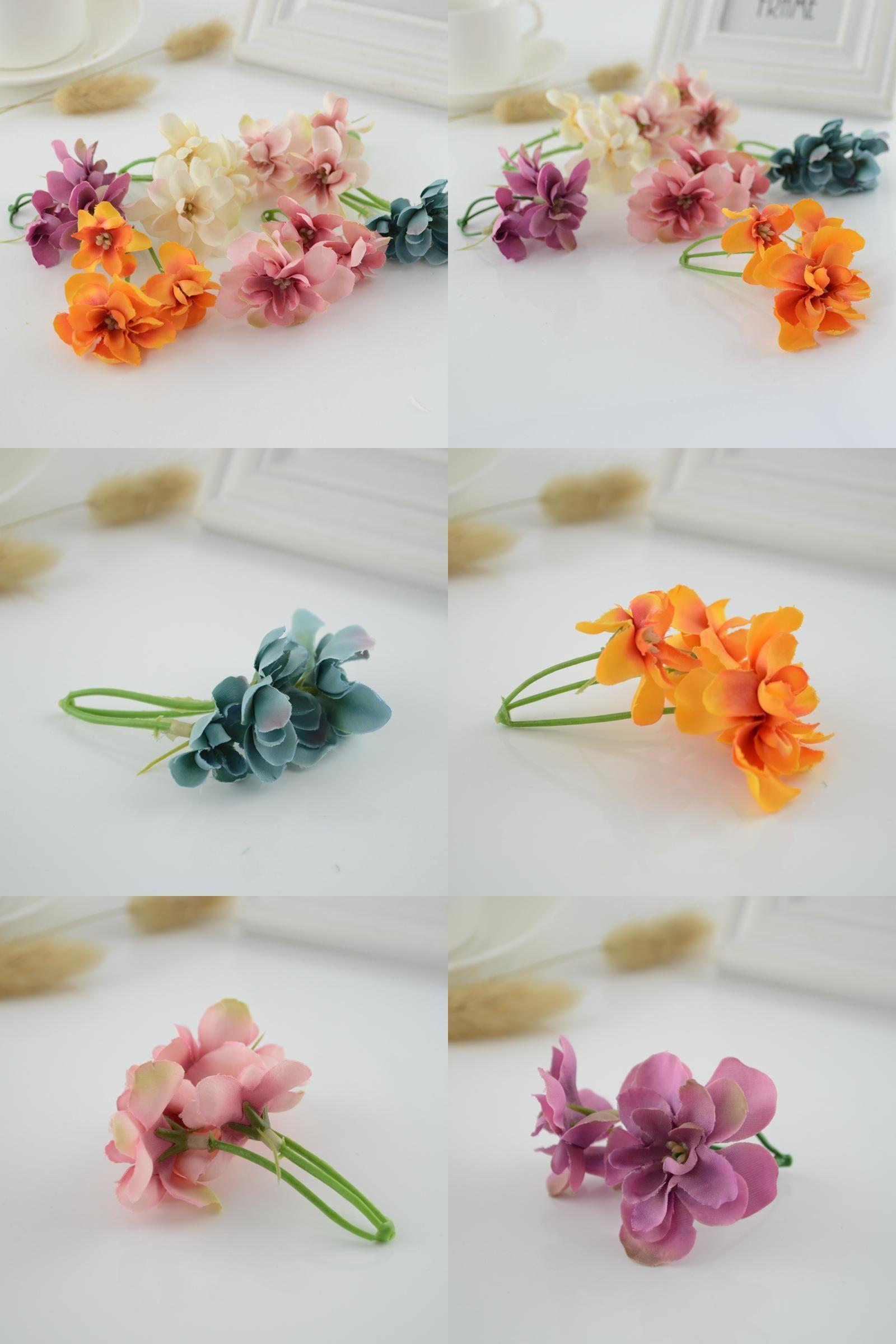 Visit To Buy 5pcs Retro Hydrangea Artificial Flowers Silk Cheap