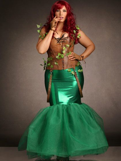 Plus Size Mermaid Metallic Trumpet Tulle Skirt | Hips & Curves ...