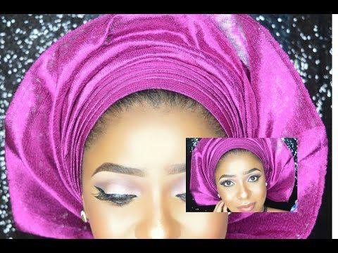 stepstep how to tie nigerian yoruba gele tutorial for