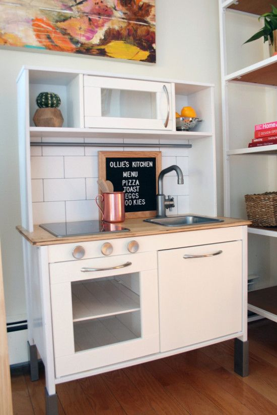 IKEA hack DUKTIG play kitchen makeover | Clever DIY | Pinterest