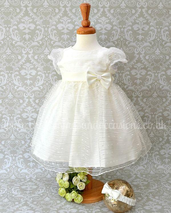 8f668284d Sevva Tina Girls Ivory Organza Christening Dress -  christeningsandoccasions.co.uk Girls Special Occasion