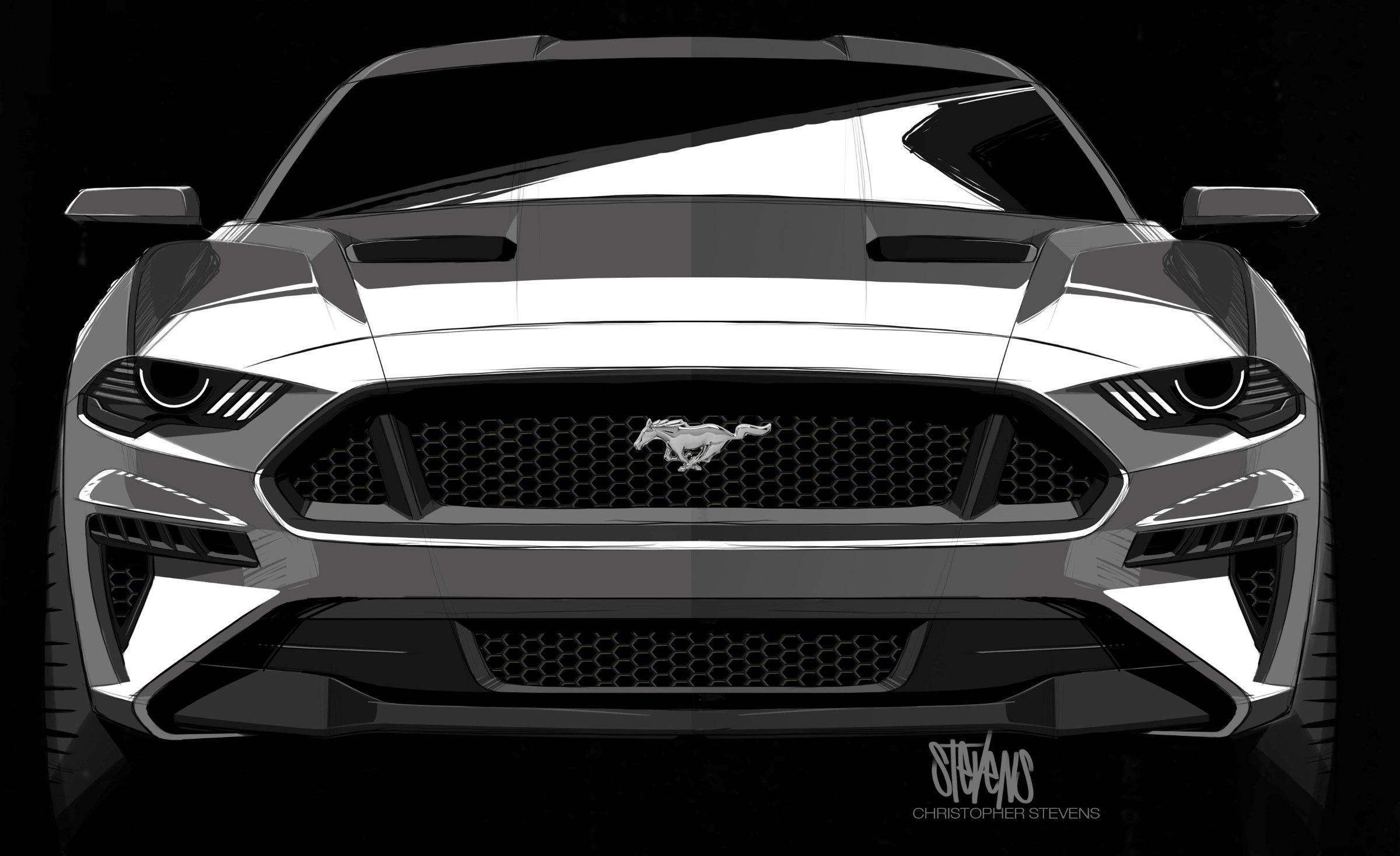 2018 ford mustang design sketch 2018 mustang gt new mustang mustang cars