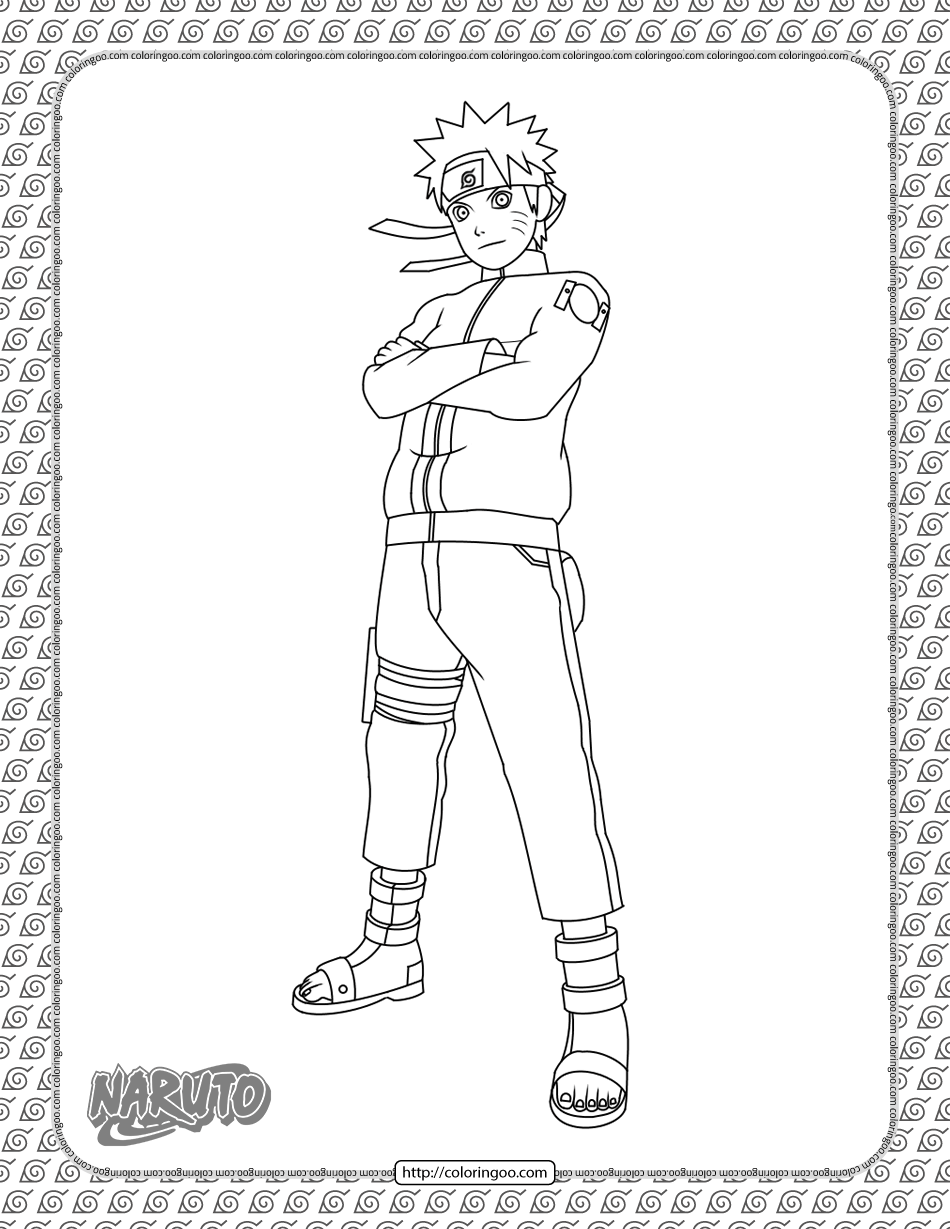 Naruto Coloring Page In 2021 Coloring Pages Naruto Color