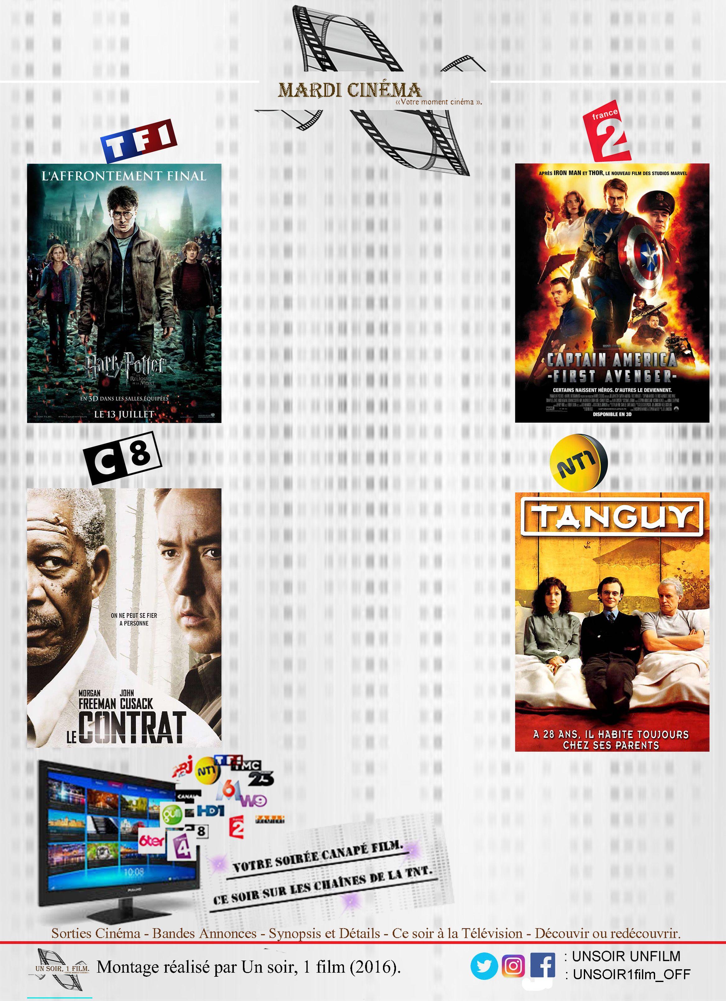 Votre mardi cinéma. Retrouvez à 20hr50 sur les chaînes de