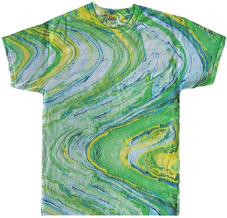 Tie Dye Adult Marble Tie Dyed Tee Marble Lime L Products