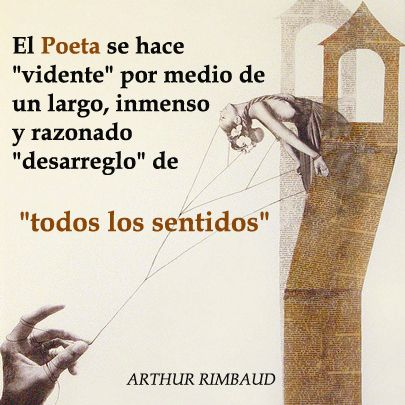 Frase Del Poeta Francés Arthur Rimbaud Collage De Simbah