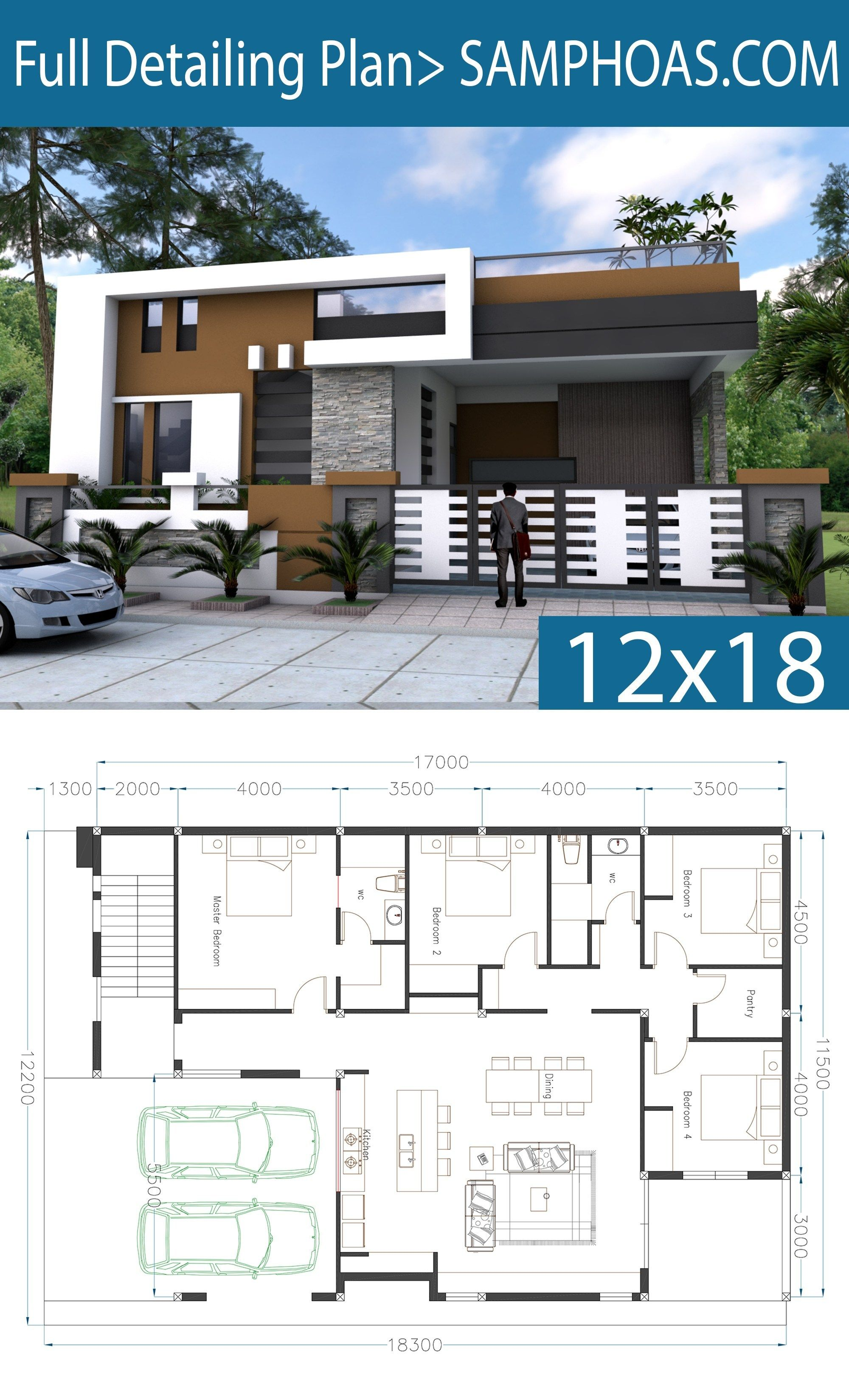 One Story House Plan 40x60 Sketchup Home Design This Villa Is Modeling By Sam Architect With 1 Stories House Design Pictures House Plan Gallery House Layouts