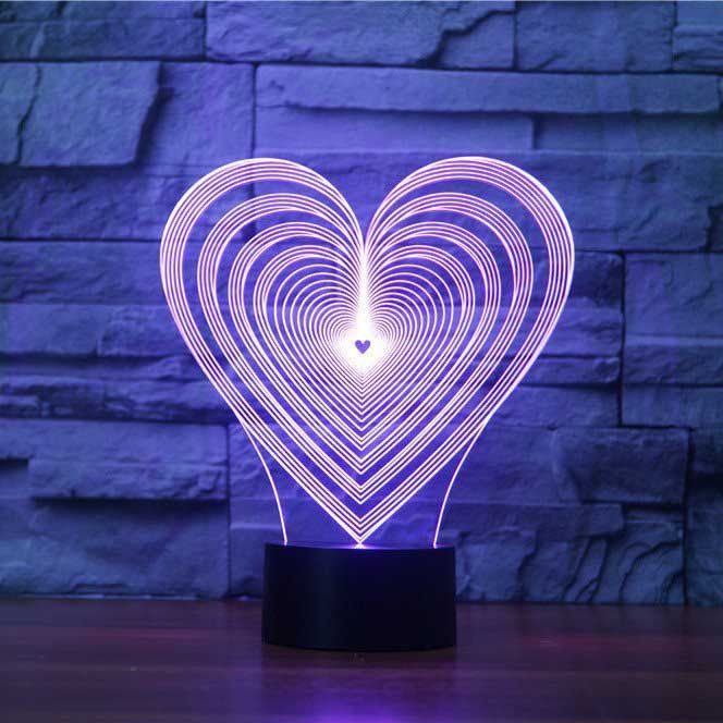 Lovestruck 3d Illusion Lamp 3d Illusion Lamp 3d Illusions 3d Led Lamp