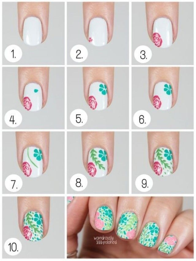 Cool Easy Nail Art Designs For Short Nails Step By Step Google