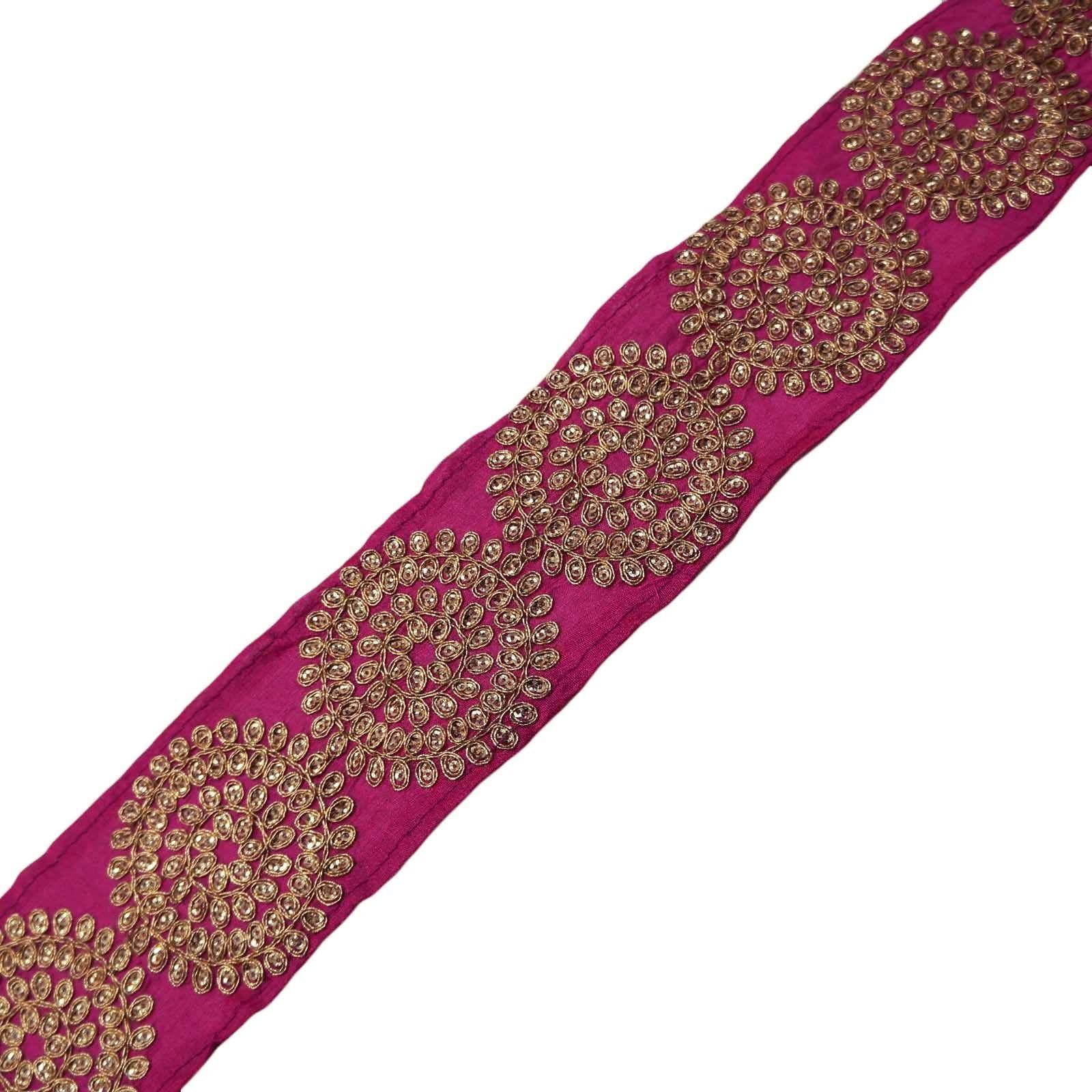 lentejuelas rosa ajuste del cordón trenzado de tela cinta coser ...