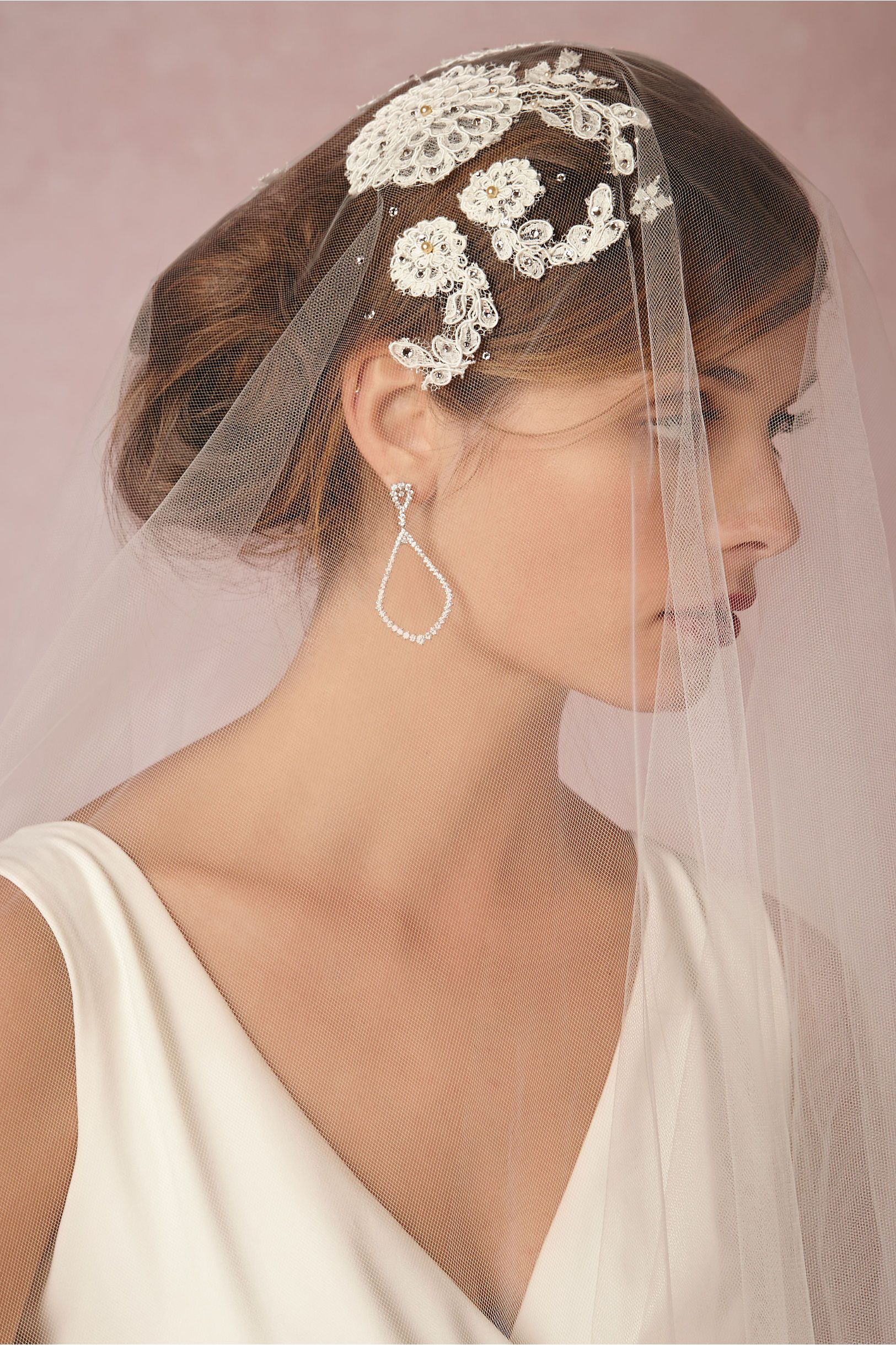 English Rose Cap Veil in Bride Veils & Headpieces at BHLDN