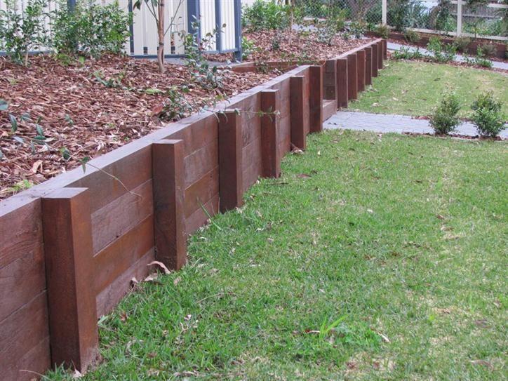 Timber Retaining Wall Design   Home Design And Home Interior Ideas