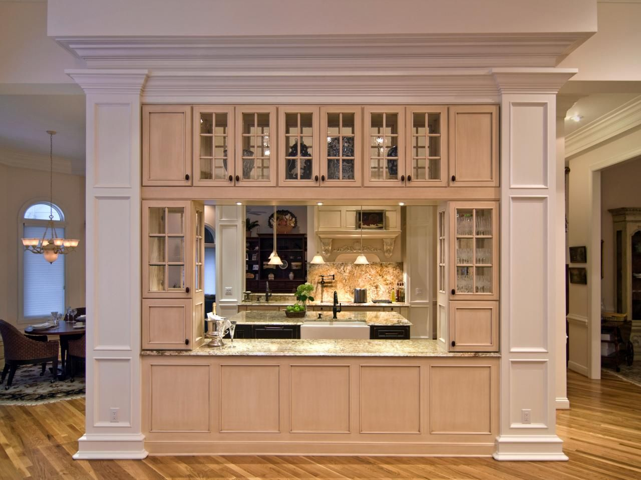 old world kitchen transformation load bearing wall storage and