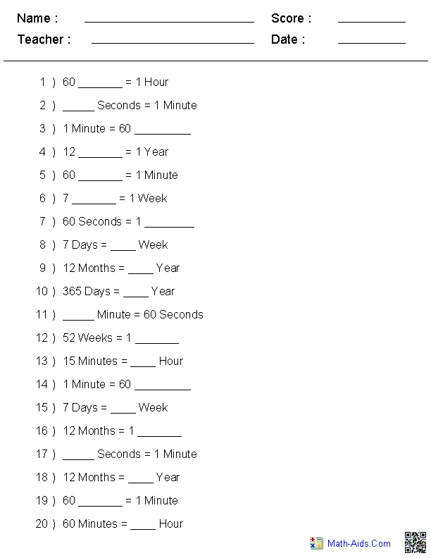 Time Worksheets | Time Worksheets for Learning to Tell Time ...