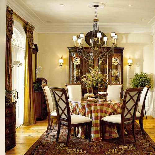 abberley-lane Southern Living dining room love the skirted table