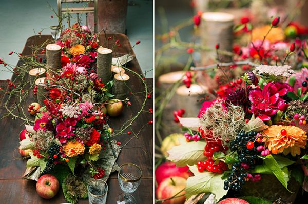 Herbstliches rustikales Rot  RED WEDDING  Hochzeit