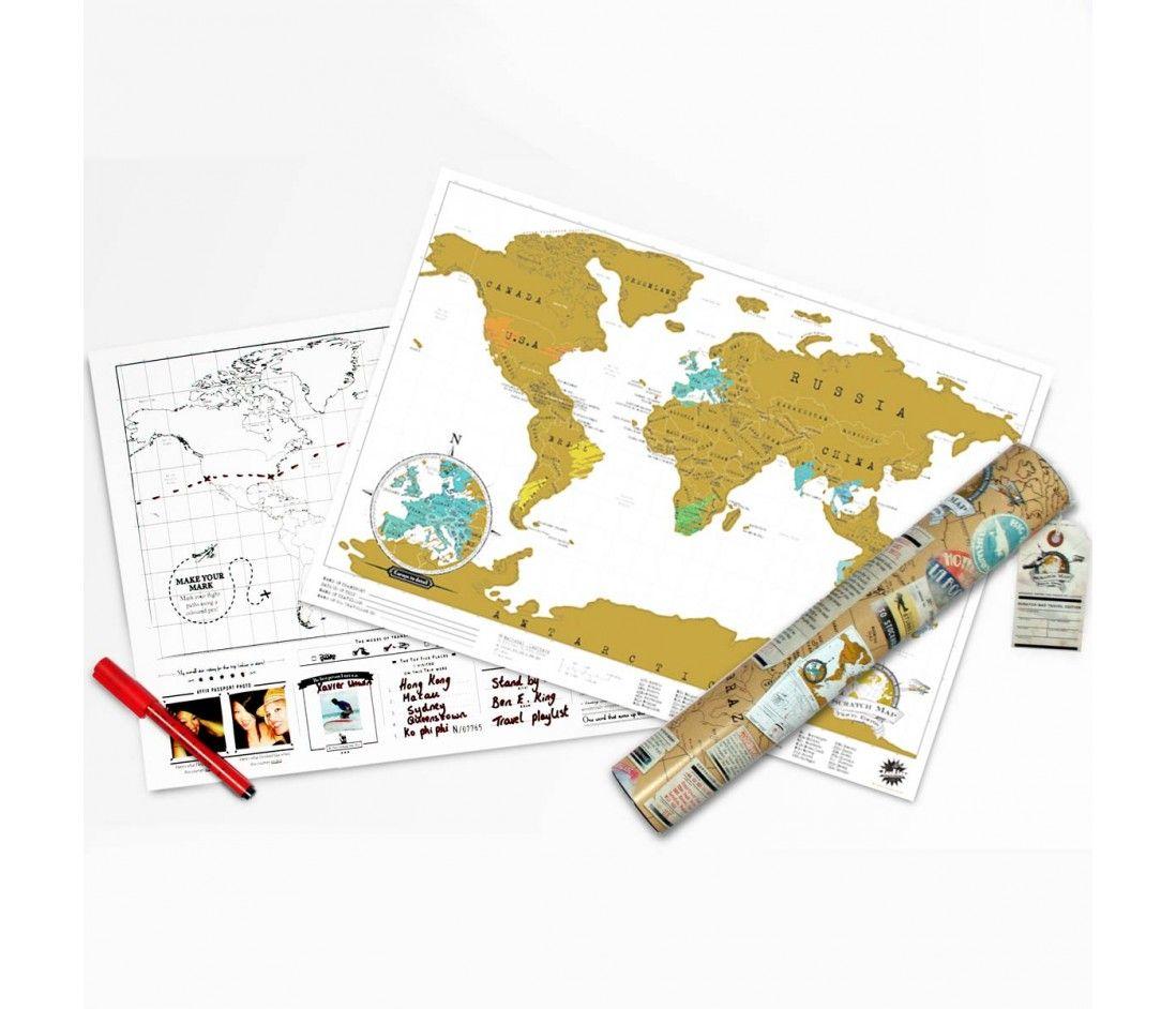 Exklusive Reiseedition Der Rubbel Weltkarte Radbag Weltkarte