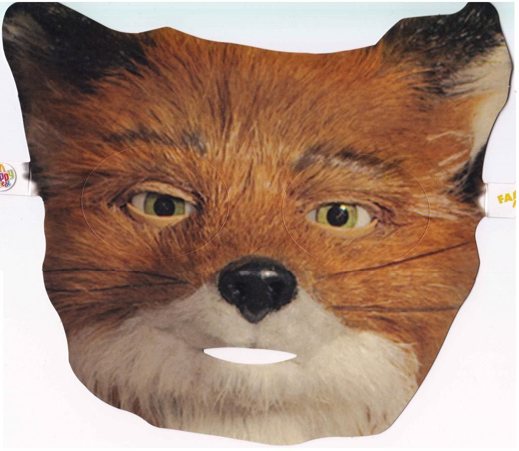 Fantastic mr fox mask happy face pinterest fox mask for Fantastic mr fox mask template