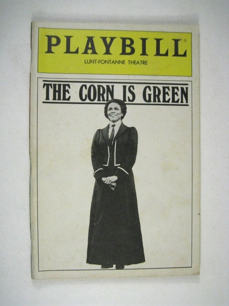 Details about the corn is greener playbill 1983 lunt