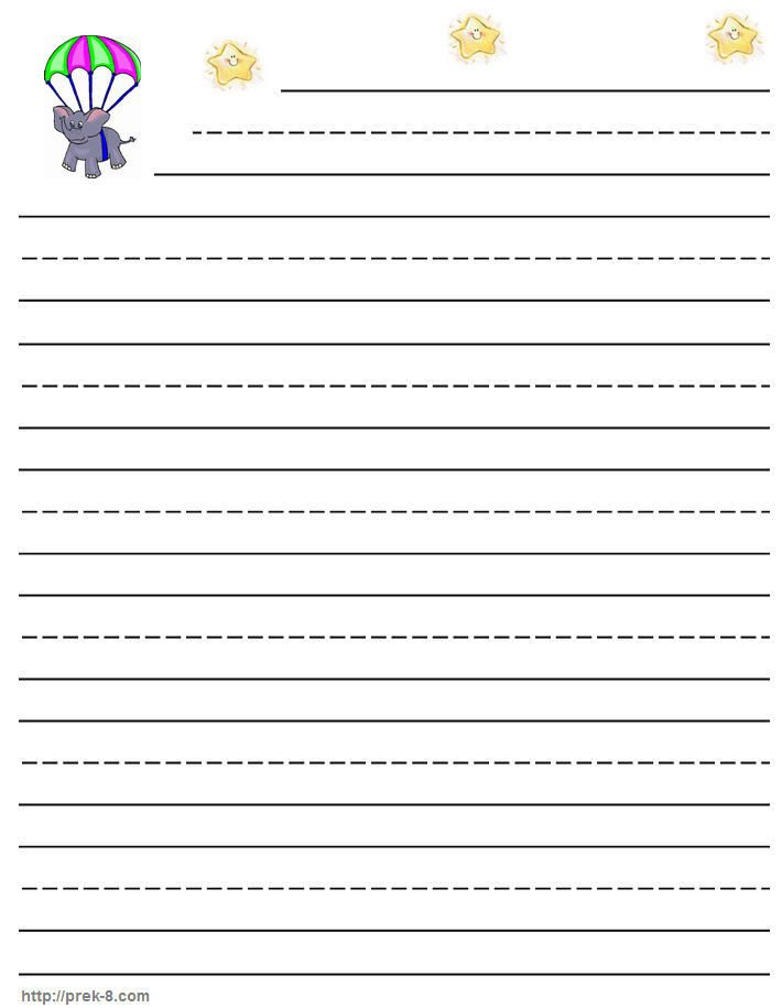 Printable Lined Writing Paper Kids K-lined writing paper - free lined handwriting paper