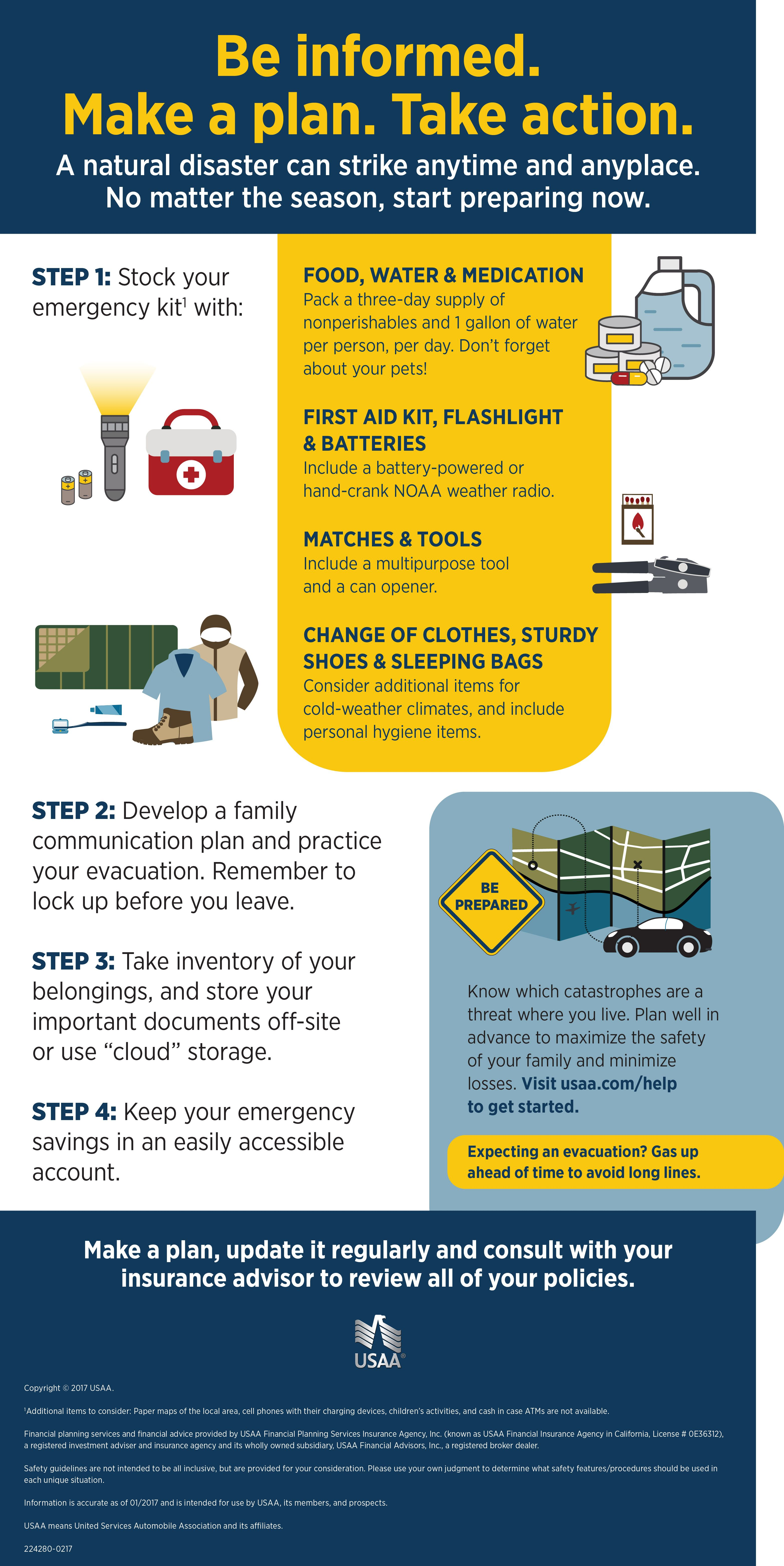 Disaster Prep And Recovery Infographic Usaa Disaster Prep