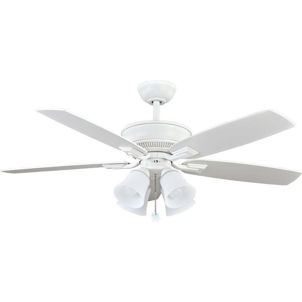 Hampton Bay Ceiling Fan Light Bulb Replacement Hampton Bay 52 Indevron Led Matte White Ceiling Fan  Pinterest