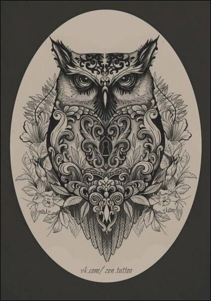 Evil Owl Family Tattoo Designs Body Art Tattoos Owl Tattoo Design