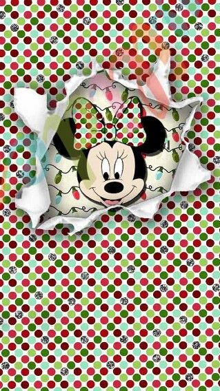 Minnie Mouse Christmas Lock Screen Iphone Wallpaper Background