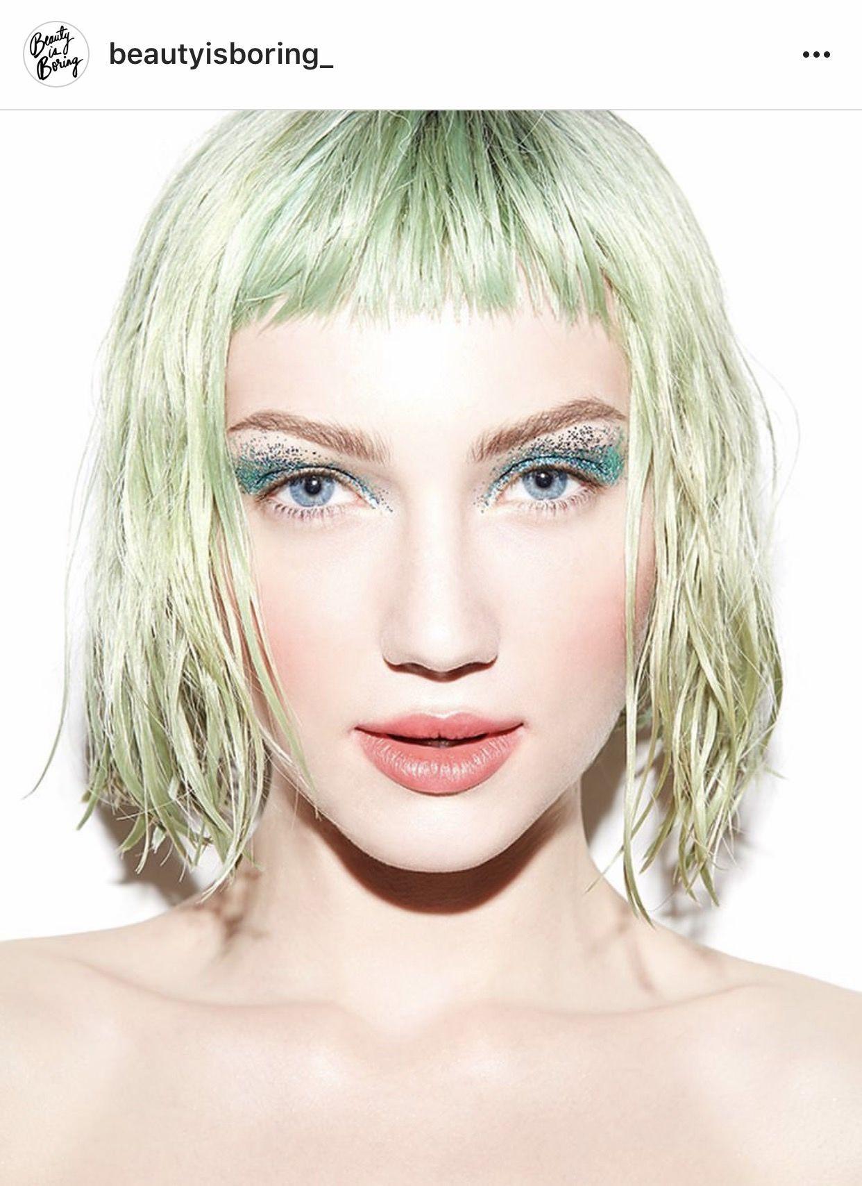 PRIVATE SCHOOL Spacepaste® Glitter Green hair, Braided