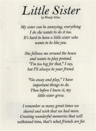 Happy birthday older sister poems