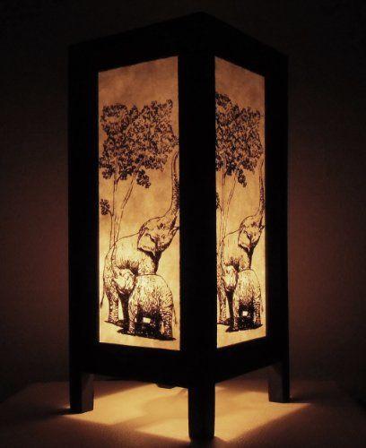 Rare Asiatiques Thaïlandais Buddha Lampe De Chevet Table Style