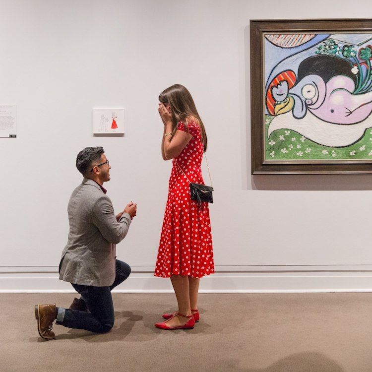 Man Proposes To His Girlfriend With An Illustration Of Him