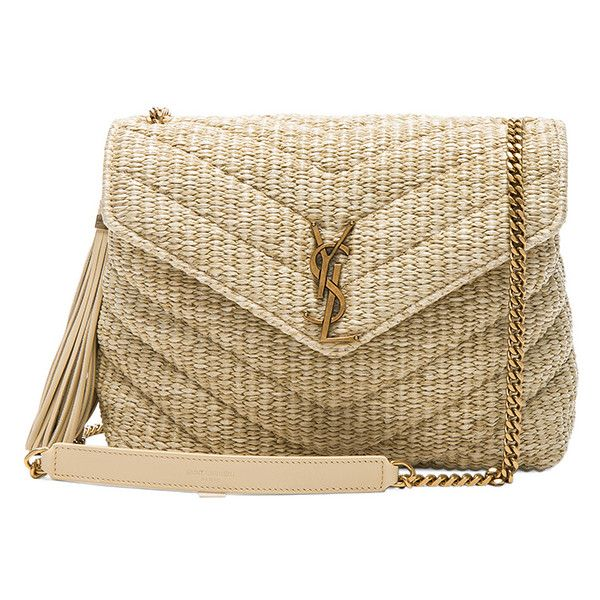 c4c198cefed5 Saint Laurent Small Raffia Soft Chain Bag ( 1