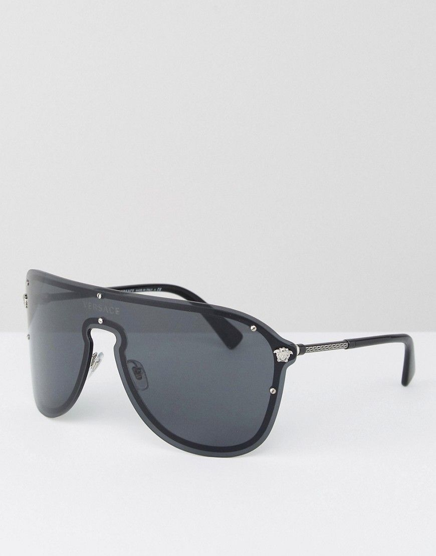 44db63d5002 VERSACE AVIATOR SUNGLASSES - BLACK.  versace