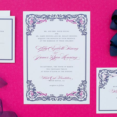 Vintage glam wedding invitations blush paper co pittsburgh items similar to wedding invitation samples invitation response card reception card sample set on etsy stopboris Gallery