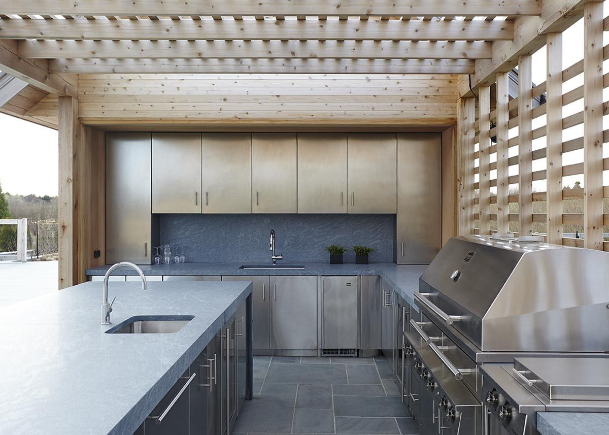 pool house kitchen. MODERN SHINGLE - Pool House Kitchen GRADE New York Y