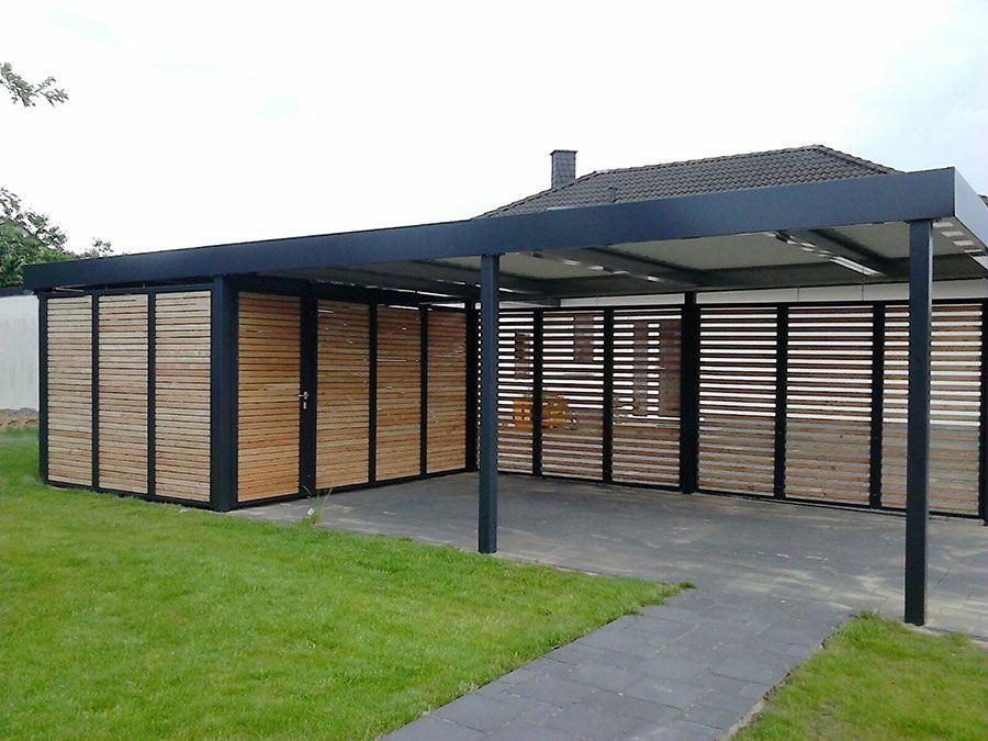 Hervorragend Carport mit Geräteraum und Wandelementen aus Holz | Carport  CX37