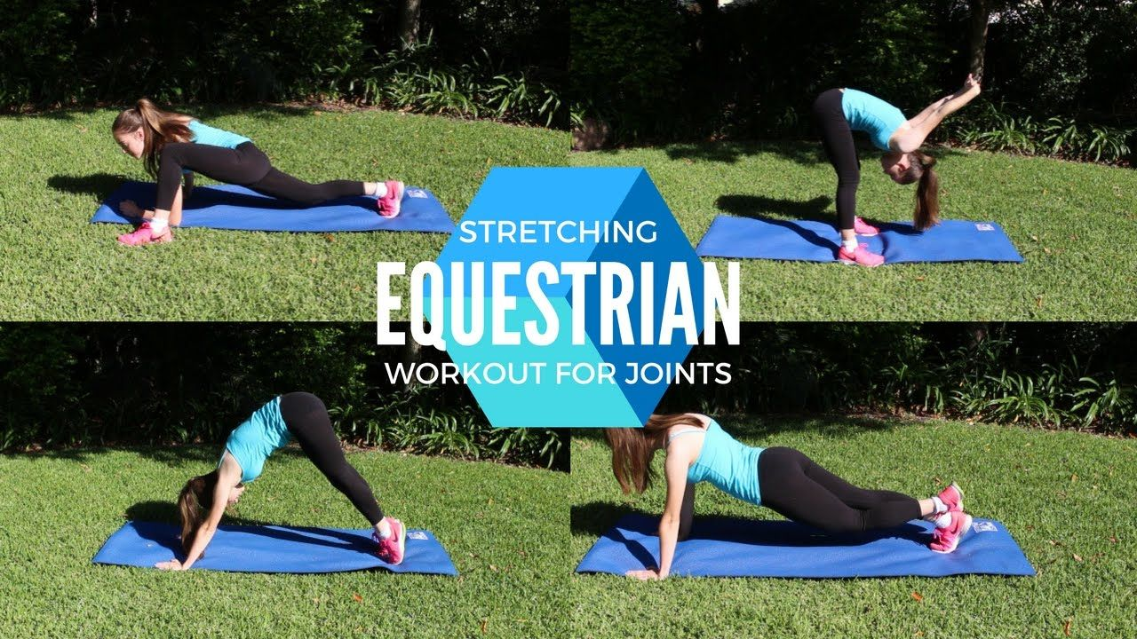 A stretching workout for the equestrian youtube with
