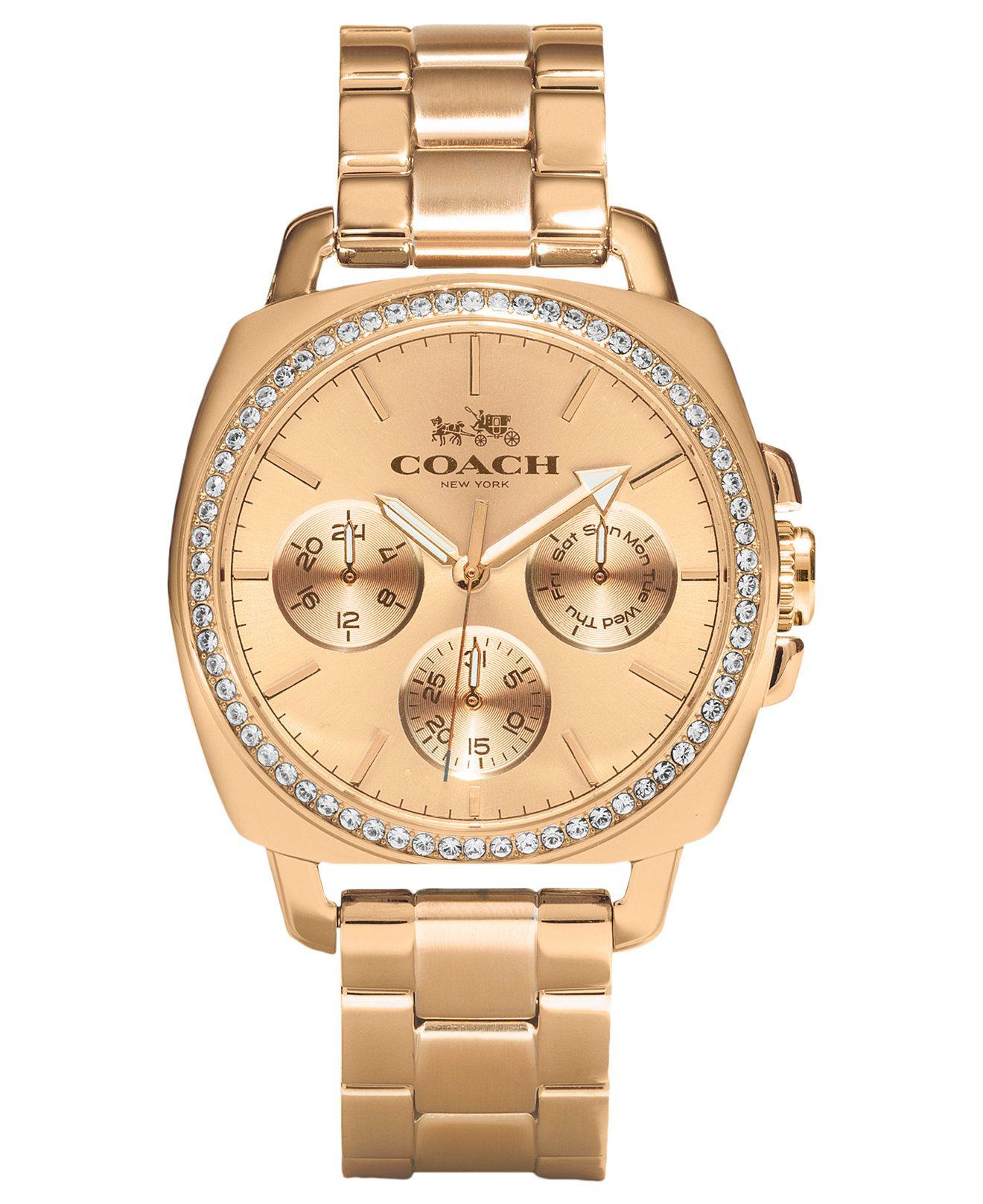 Coach Women S Rose Gold Plated Bracelet Watch 40mm 14502081