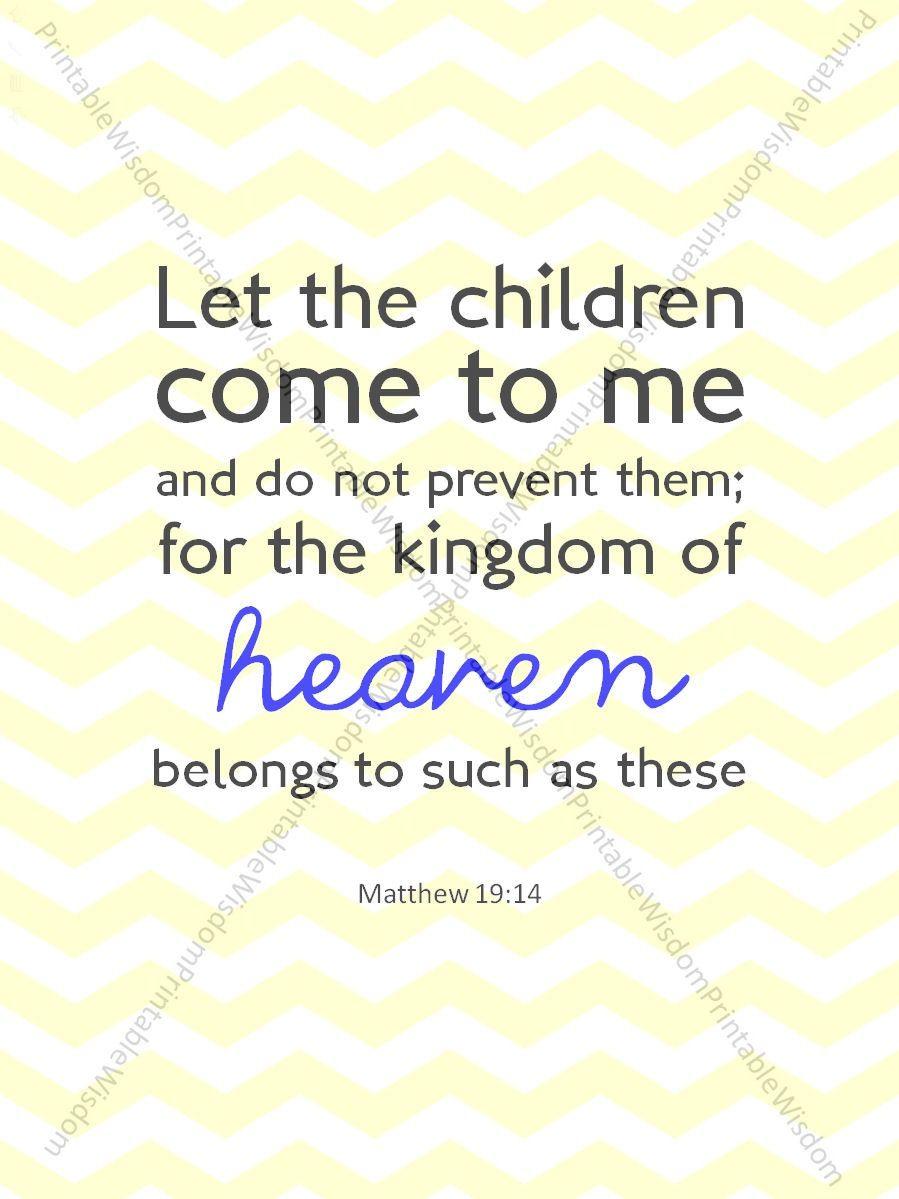 Bible Verse Print, Nursery Childrenu0027s Room Scripture Art, Christian Wall  Art Decor   Matthew