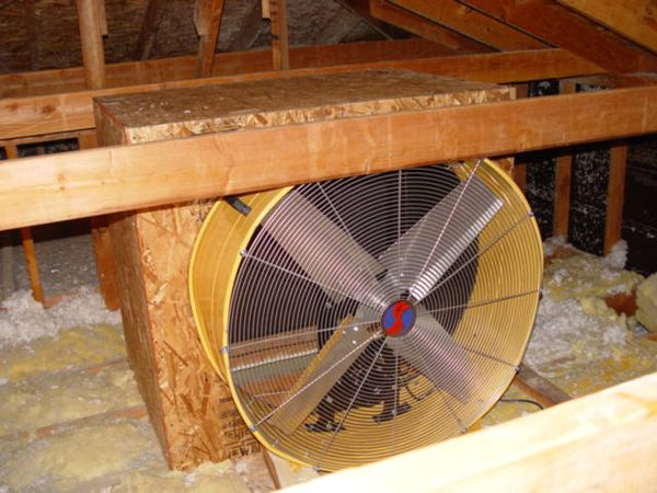 Whole House Fan Blows Away Our A C Bill Whole House Fan House Fan Attic Fan