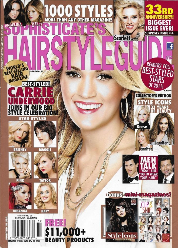 Sophisticates Hairstyle Magazine Carrie Underwood 1000 Styles Celebrity Hair