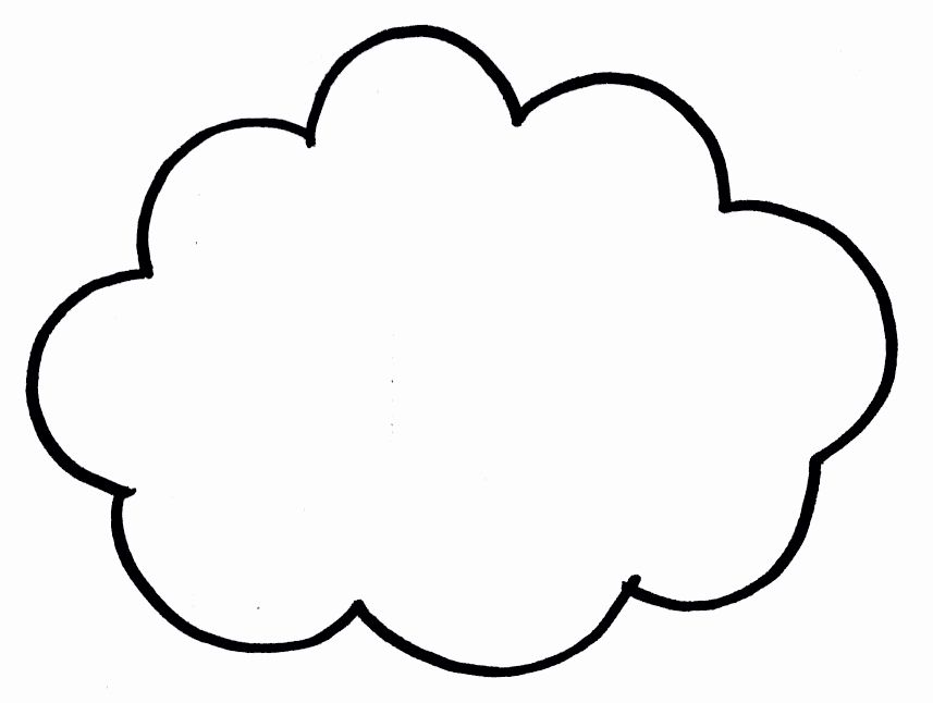 Cloud Template Printable Beautiful Free Printable Cloud Template Download Free Clip Art Cloud Template Cloud Outline Free Coloring Pages