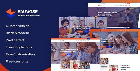 Eduwise - Education Bootstrap 4 Template by #EcologyTheme