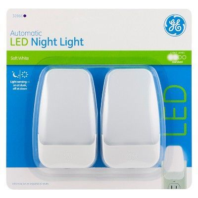 Ge Automatic Led Night Light 2 Pack 30966 White Products