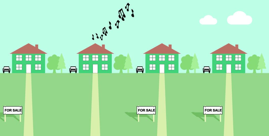 How To Deal With Noisy Neighbors For Sale Sign Clip Art Good Neighbor